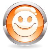 按钮光泽微笑 免版税库存图片