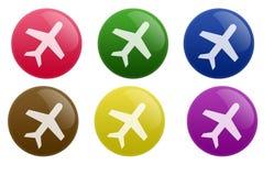 按钮光滑的旅行 免版税库存照片