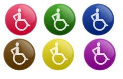 按钮光滑的轮椅 免版税库存照片
