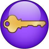 按钮关键万维网 库存照片