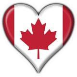 按钮加拿大标志重点 库存图片