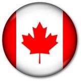 按钮加拿大标志 免版税库存照片