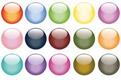 按钮十五集合万维网 库存图片