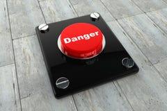 按钮危险 库存图片