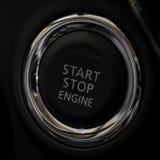 按钮发动机启动终止 免版税库存照片