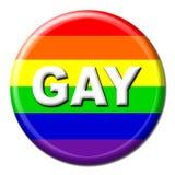 按钮同性恋者彩虹 免版税库存照片
