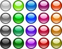 按钮向量 免版税库存图片