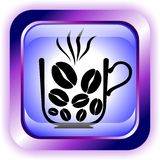 按钮咖啡 图库摄影
