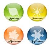 按钮四个季节 免版税库存图片