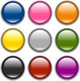 按钮图标抽样向量 免版税库存照片