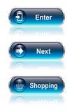 按钮图标集合万维网 向量例证