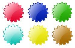 按钮圈子星形 免版税库存照片