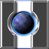 按钮地球定位 免版税库存图片