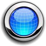 按钮地球 库存图片