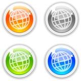按钮地球 免版税库存照片
