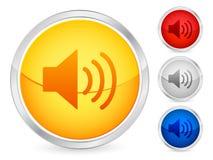 按钮声音 免版税库存照片