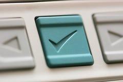 按钮复选标记 图库摄影