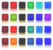 按钮多色正方形 库存例证