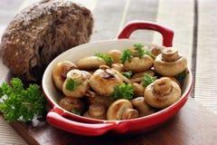 按钮大蒜蘑菇 免版税库存图片