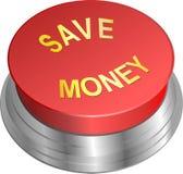 按钮存金钱 库存图片