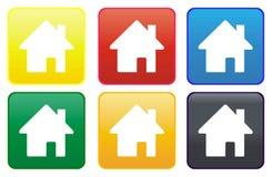 按钮家庭万维网 免版税库存图片
