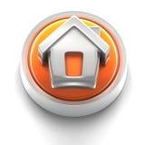 按钮家庭图标 免版税库存图片