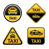 按钮小室集合出租汽车 库存例证