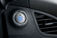 按钮引擎启动终止 免版税库存照片
