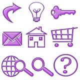 按钮形成胶冻松的紫色万维网 免版税库存图片