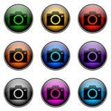 按钮彩色摄影机 免版税库存照片