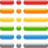 按钮彩色组万维网 免版税图库摄影