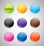 按钮彩色组 免版税库存照片