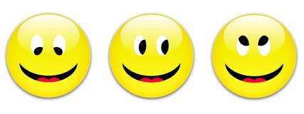 按钮微笑 免版税库存图片