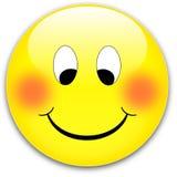 按钮微笑 库存照片