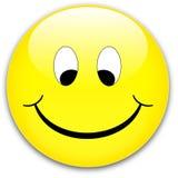 按钮微笑 免版税图库摄影
