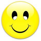 按钮微笑 库存图片