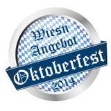 按钮慕尼黑啤酒节2014年- Wiesn Angebot 库存图片