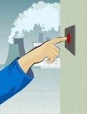 按钮手 免版税库存照片