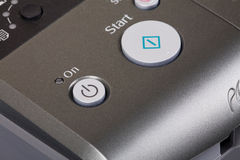 按钮打印机 库存图片
