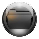 按钮文件夹石墨 免版税图库摄影