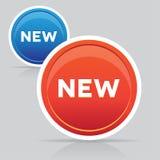 按钮新的向量 免版税库存照片