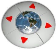 按钮方向地球环境驾驶 库存图片