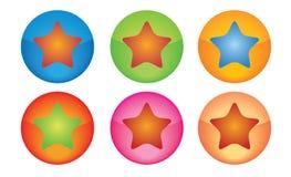 按钮星形 免版税库存照片