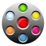 按钮来回万维网 库存照片