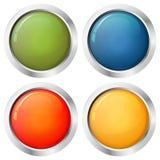 按钮模板四颜色 免版税库存图片