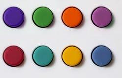 按钮橡胶集 免版税图库摄影