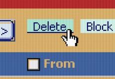 按钮游标删除 免版税库存图片