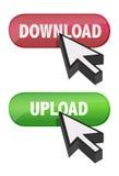 按钮游标设计光滑的例证 免版税库存照片