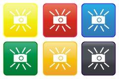 按钮照相机万维网 免版税库存照片