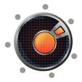 按钮熔岩向量 免版税库存照片